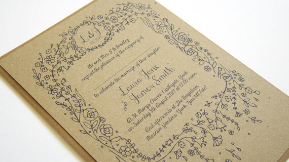 Wedding - Story Book Wedding Invitation Rustic Eco SAMPLE