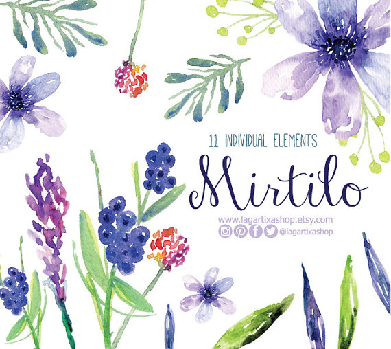 Watercolor Clipart Floral PNG Wedding Bouquet Arrangement Bouquet Frames Digital Paper