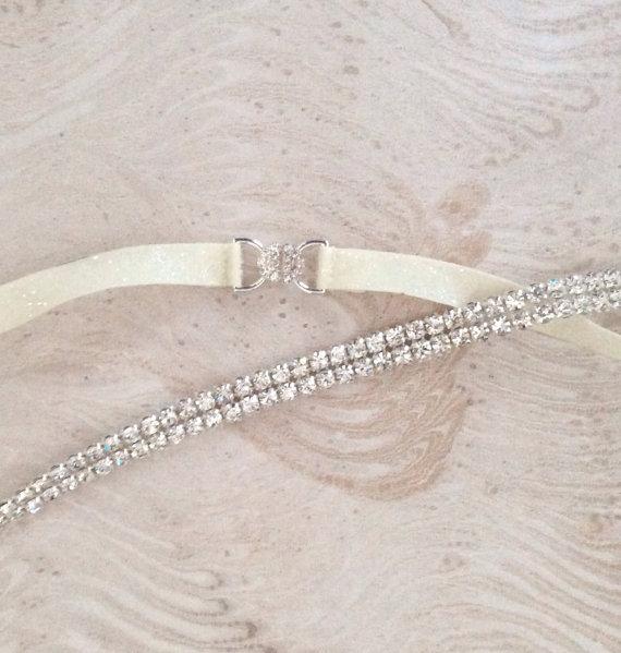 Thin rhinestone belt