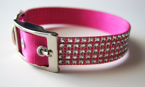 Свадьба - Silver Bling Dog Collar