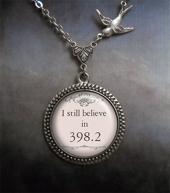 Mariage - I still believe in 398.2 Fairytale necklace, fairy tale jewelry librarian gift, bridal fairy tale wedding