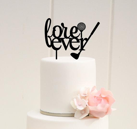زفاف - Fore Ever Golf Wedding Cake Topper - Custom Cake Topper