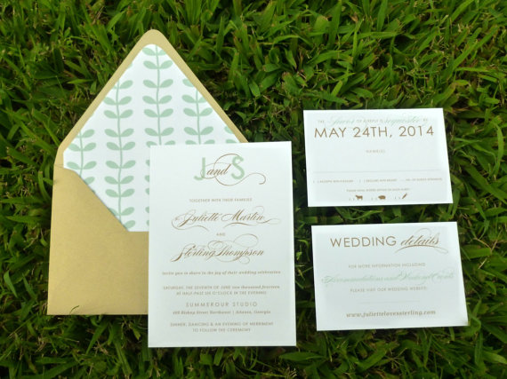 Elegant Monogram Wedding Invitations: Elegant Wedding Invitations