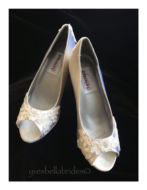 زفاف - MYA - Lace Peep Toe Bridal Pumps Shoes, Peep Toe Wedding Shoes, Bridal Wedding Shoes, Open Toe Bridal Shoes, Lace Bridal Wedding Shoes