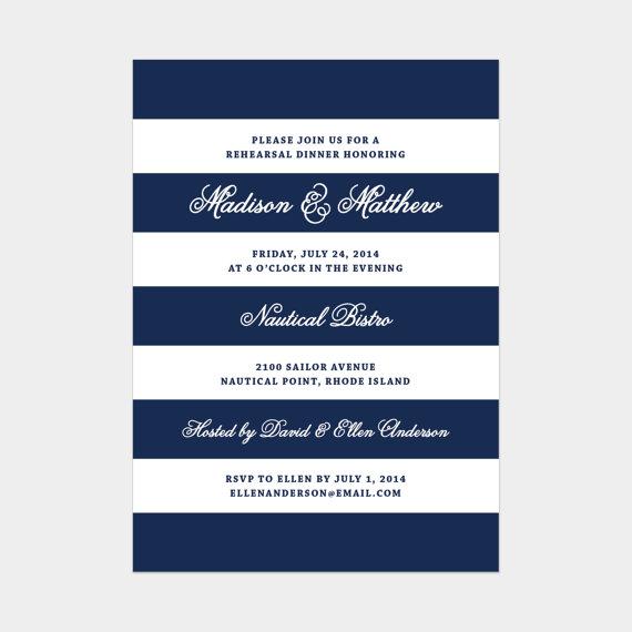 زفاف - Printed - Nautical Rehearsal Dinner Invitation