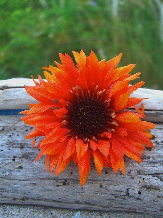 Свадьба - Floral Wild Sunflower Hair Clip-PUMPKIN PATCH-Flower Hair Clip, Country Rustic Woodland Weddings, Weddings, Country Girls, Family Photo Prop