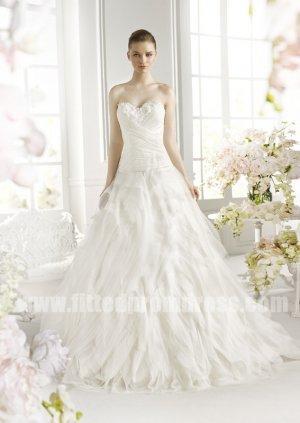 Boda - Discount Avenue Diagonal Febrero Ruffle Wedding Dresses