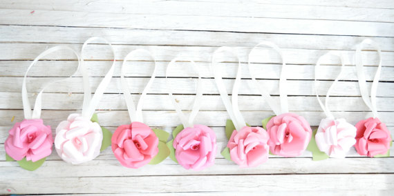 Свадьба - Wedding Paper Flowers-Pink Ombre Paper Flowers- Wedding Chair Decorations