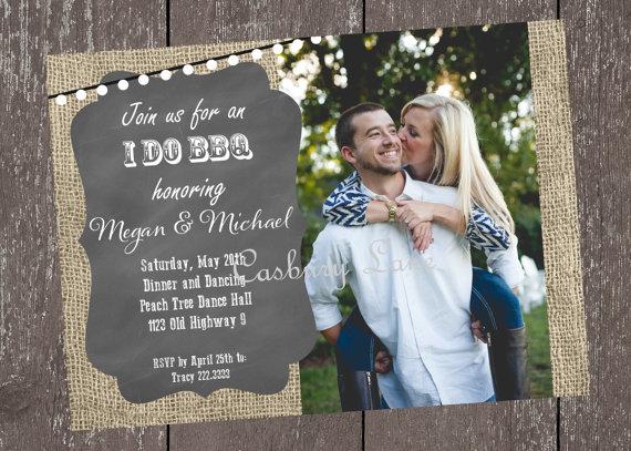 Wedding - Printable Invitation-NEW I Do BBQ-Engagement Party-BBQ-Mason Jar Invitation-Casbury Lane