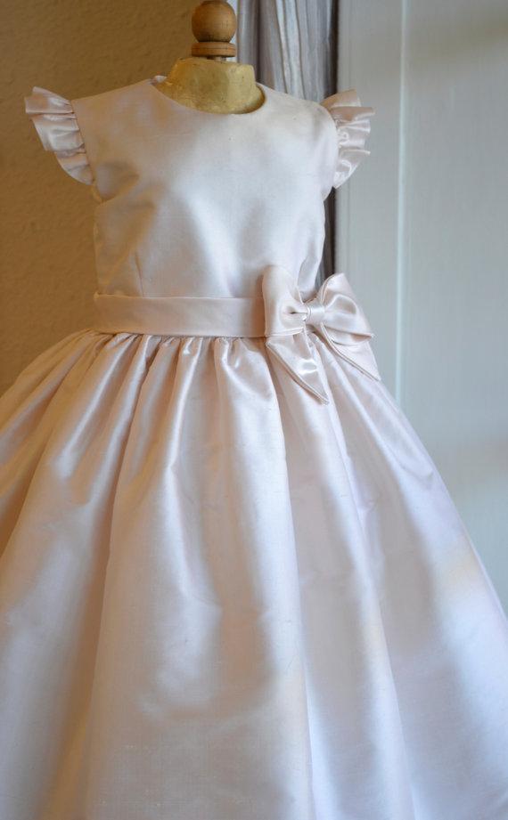 Mariage - Flower Girl Dresses, Christening Dress, Baptism Dress, 1st Year Birthday Dress, Dedication Dress, Blessing Dress, Naming Ceremony Dress