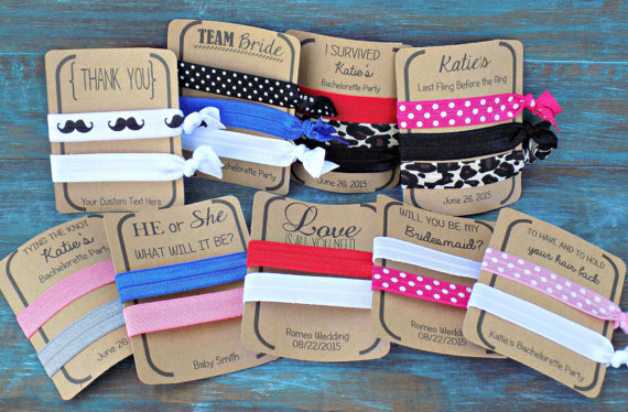 Custom Hair Tie Favors 10fffb1fee8