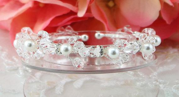 Mariage - Bridal Bracelet Wedding Bracelet Silver Crystal Brides Bracelet Wedding Bracelet Bridal Jewelry Wedding Jewelry Bridal Accessories Style-60