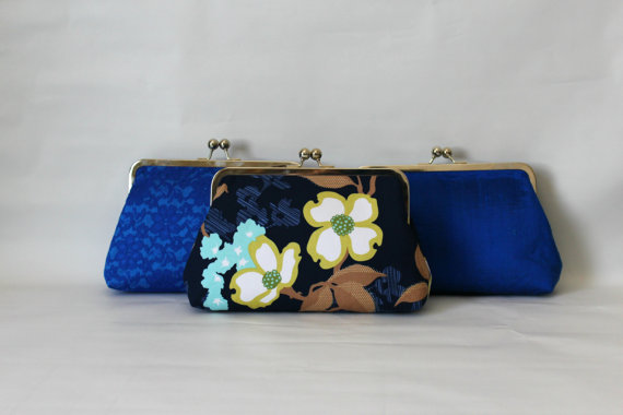 Mariage - Wedding Clutches - Bridesmaids Clutches - Wedding Gifts - Bridesmaid Gifts - Blue Wedding Clutches - Bridal Clutches Sets of 3 or 6