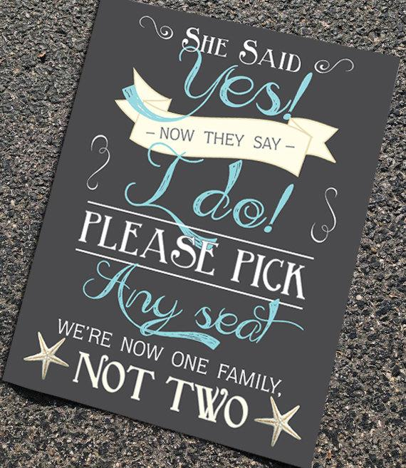 Свадьба - Rustic Chalkboard Wedding Ceremony or Reception Sign in any size