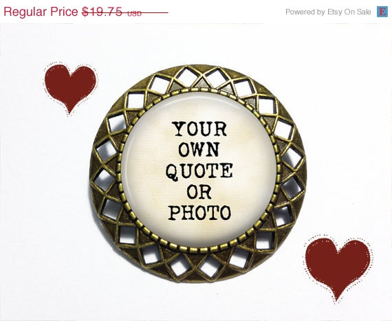 زفاف - SUMMER SALE CUSTOM Brooch Art Deco Style - Personalized Brooch Pin with your own quote or photo - Birthday Brooch - Wedding Brooch