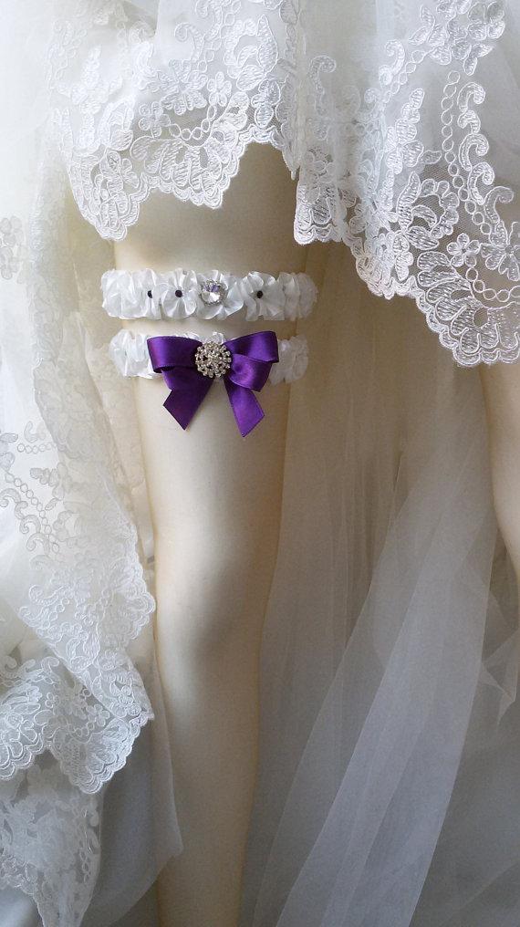 Hochzeit - Wedding leg garter, Bridal garter set, Garter, Rustic wedding garter, İvory ribbon garter, Bridal accessuary, Pearl and ribbon garter,