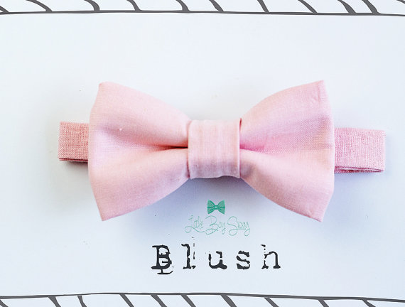 زفاف - Baby Boy Blush Bow Tie for all ages- Newborn -Adult..Toddler..Suspenders..1st Birthday..Ring Bearer..Wedding..Kids Bow Tie..Best Man gift