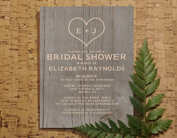 Diy Wood Grain Invitations