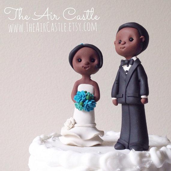 Свадьба - Custom people wedding cake topper handmade