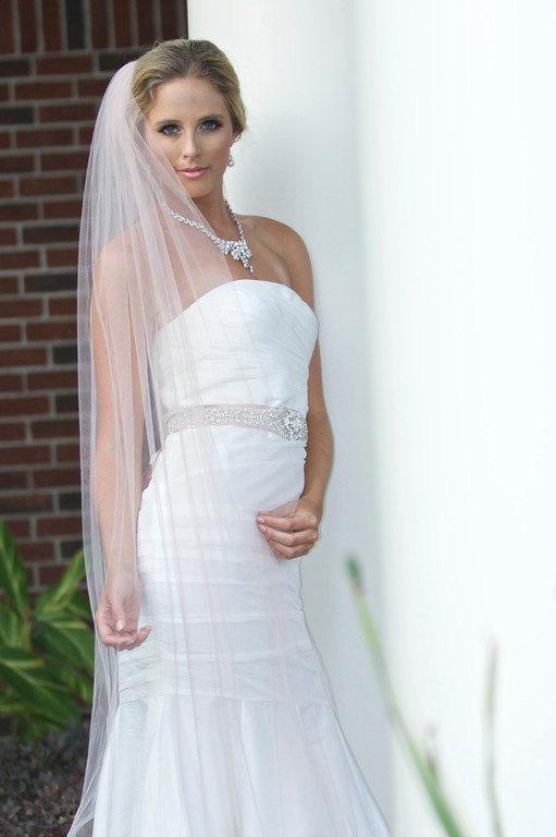 Свадьба - Cathedral Wedding Veil, Bridal Veil, Traditional Wedding Veil in White, Diamond White, Ivory and more-- Tulle Bridal Veil