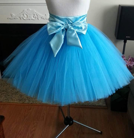 Свадьба - Custom Made  Tutu Skirt for brides maid dress, prom, party, portraits-4 inches satin sash is included-Any color