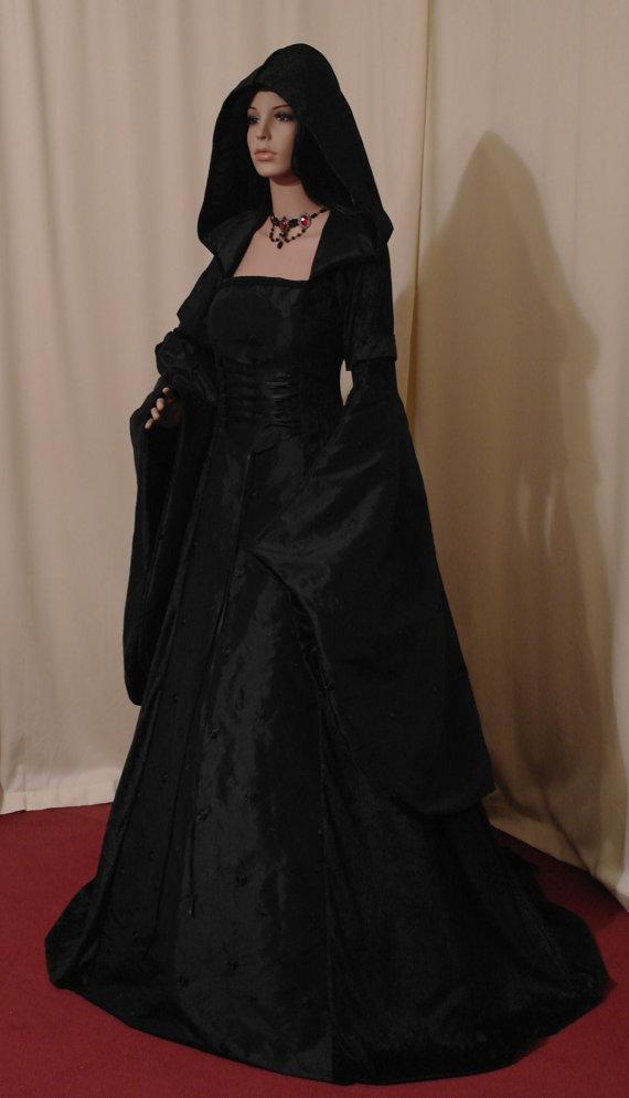 Wedding - medieval dress, renaissance wedding dress,  gotthic wedding dress, handfasting dress, elven dress, custom made