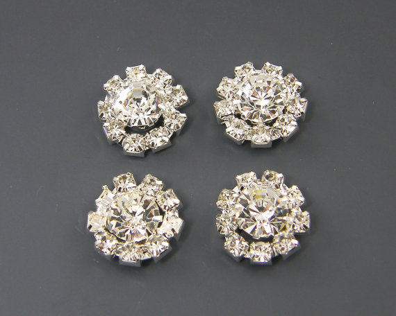 Flat Back Rhinestone Ons Jewelry Supply For Bridal Wedding Diy Crafts Silver Round Earring Finding Lg1 1