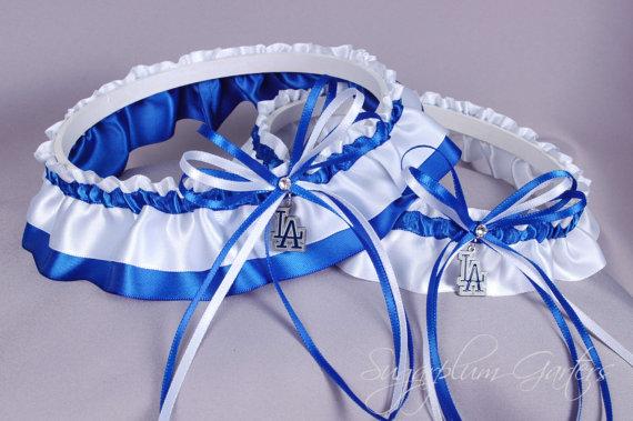 Mariage - Los Angeles Dodgers Wedding Garter Set