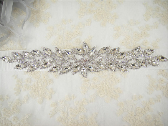 زفاف - Sale-Wedding Sash, Bridal Belt, Rhinestones Wedding Belt, Crystal Bridal Sash, Jeweled  Wedding Sash, Rhinestone Bridal Sash Belt