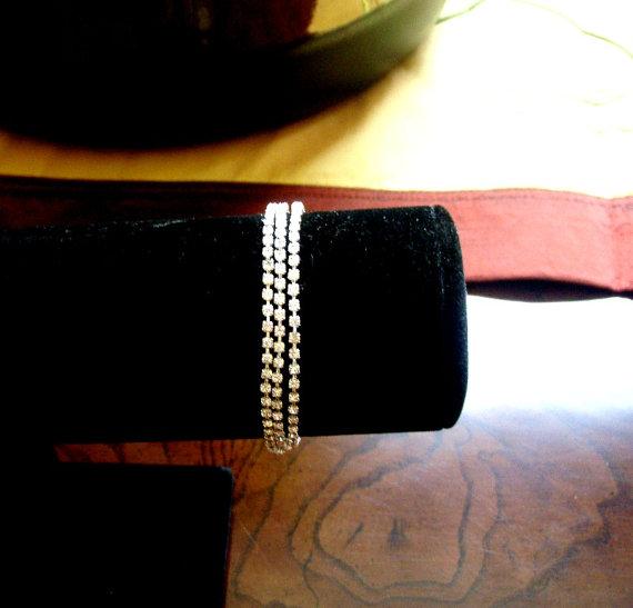 Свадьба - Sparkling Rhinestone Wrap Bracelet or Necklace, Wedding Jewelry