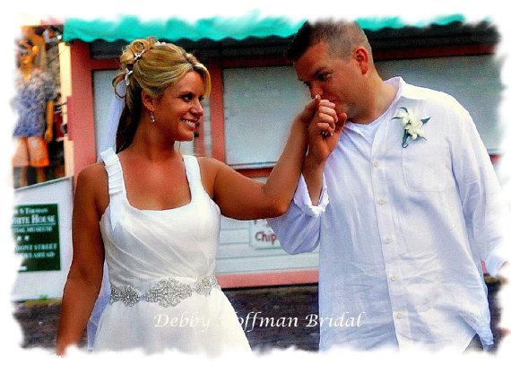 Mariage - Wedding Dress Belt, Jeweled Sash, Rhinestone Sash, Rhinestone Crystal Bridal Sash, Bridal Belt, No. 1101S-1171-18, Wedding Accessories