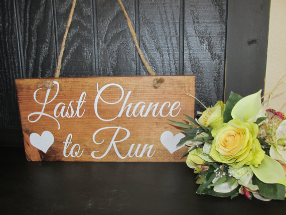 Свадьба - WEDDING SIGN BRIDE, Last Chance to run, Ring bearer, Here comes the bride, Wedding Sign, love of your life, Flower girl, wood signs, Bride
