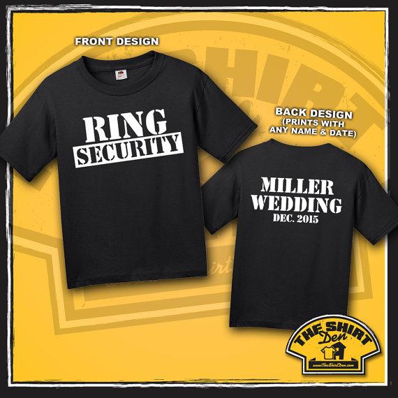 Wedding - Ring Bearer Ring Security T-Shirt - Shirt - Tee - Wedding - The Ring Bearer - Kids - Youth - Custom - Personalized - Custom Wedding T-Shirt