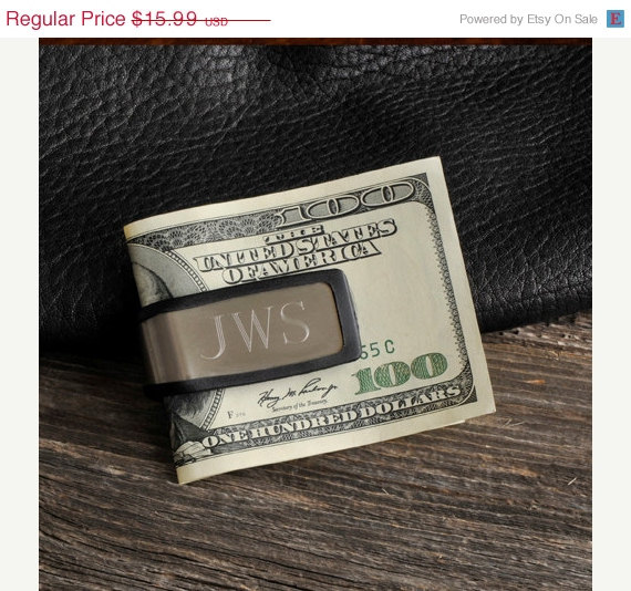 Свадьба - Personalized Sporty Fit Money Clip - Groomsmen Gift Idea (830)