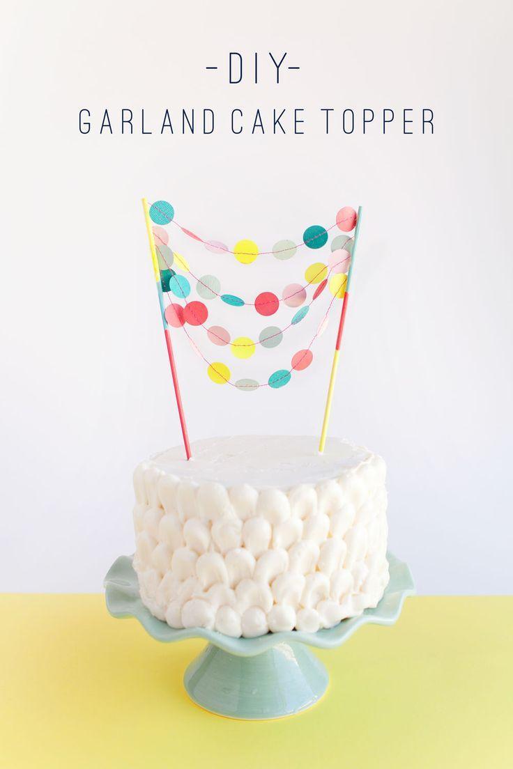 Hochzeit - GARLAND CAKE TOPPER