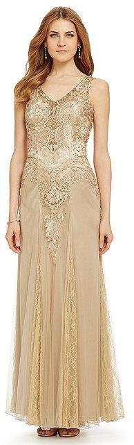 Wedding - Sue Wong Embroidered Beaded Gown