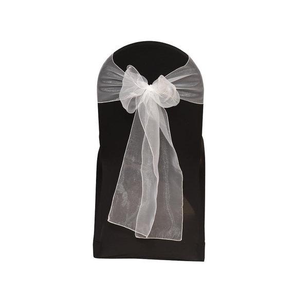 Wedding - White Organza Chair Sash