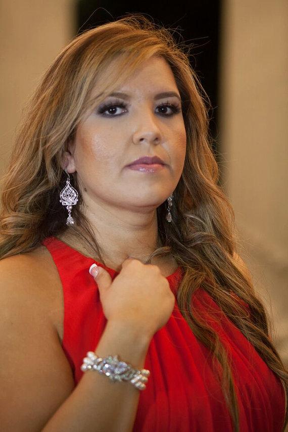 Свадьба - Bridal Earrings, Swarovski Teardrop,Chandelier Earrings,Long Rhinestone Earrings, Wedding Crystal Earrings, Statement Bridal Earrings,STELLA