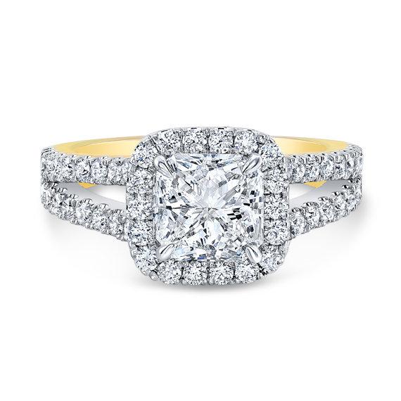 Mariage - Radiant Cut Diamond Halo Engagement Ring