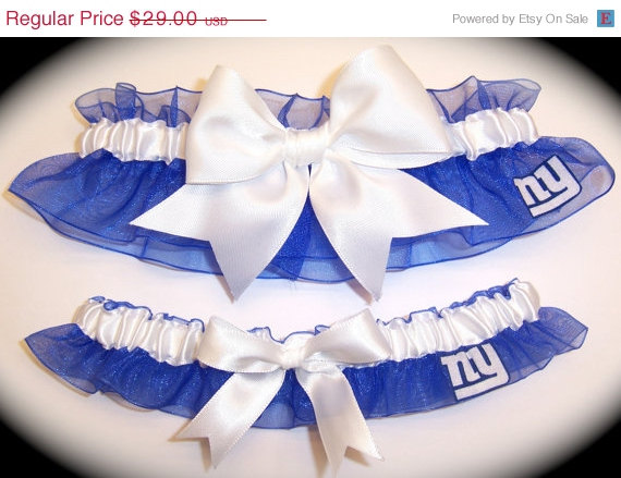 Mariage - SALE Handmade Wedding Garter Set  New York Giants l  NY Keepsake Toss rww 0