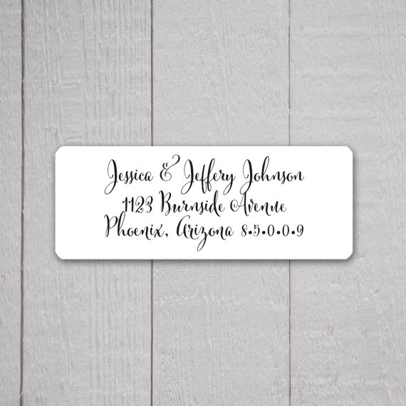 Wedding Invitation Return Address Labels, Wedding Stickers, Return ...