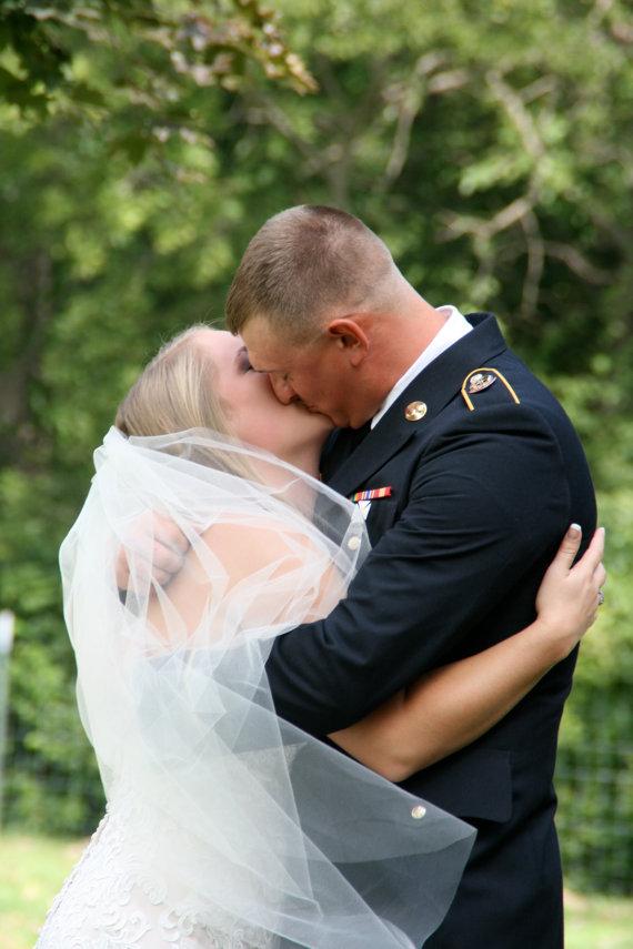 Wedding - Ready NOW Sale! White 72 Inch Timeless Classic Cut Raw Edge One Tier Layer Wedding Veil