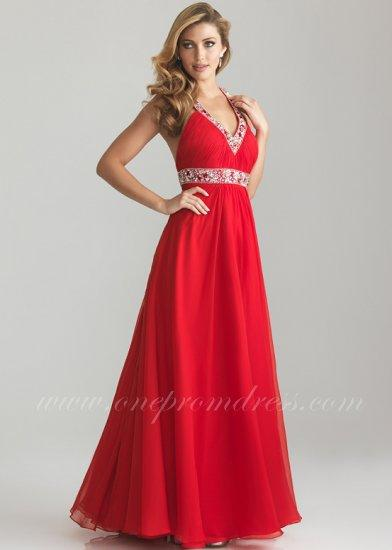 Hochzeit - Red Night Moves Beaded Neckline Prom Dress 6741 for Cheap