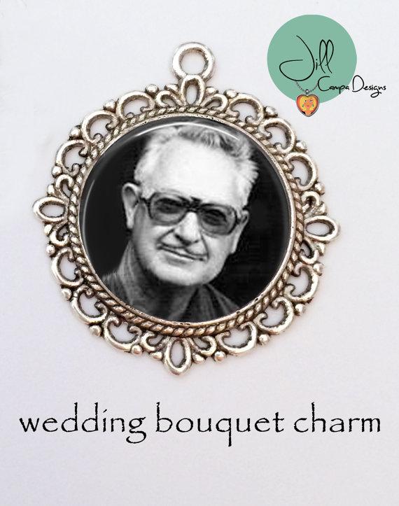 Hochzeit - Photo Wedding Bouquet Charm - wedding bouquet charm - Photo charm - wedding bouquet charm - Bridal Charm - Bridal Bouquet Charm