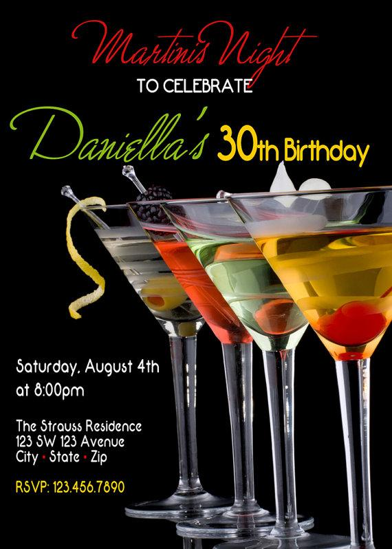 Свадьба - Martini Party - Martini Night Invitation - Martini Invitation - Girls Martini Night Invite