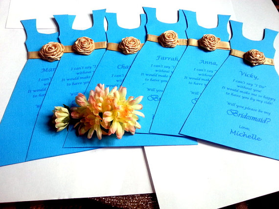 Свадьба - Will you be my Bridesmaid Cards Thank you Bridesmaid Wedding party Invitation