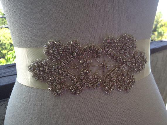 Mariage - Wedding Belt,Bridal Sash,Bridal Sash Belt,Bridal Rhinestone Sash,Best seller ,Wedding Accessories,Bridal Handmade Sash,Wedding SASH