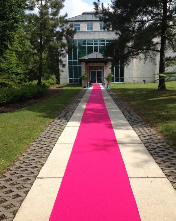 Mariage - Hot Pink  Custom Made Aisle Runner 30 Feet Long 36 inches Wide