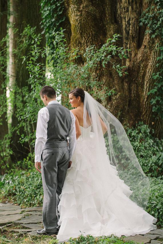 Свадьба - 75 inches Single tier chapel veil, floor length veil, waltz, wedding veil, bridal veil