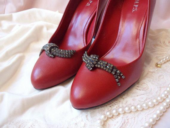 Mariage - Musi Rhinestone Shoe Clips, Brazilian Shoe Clips